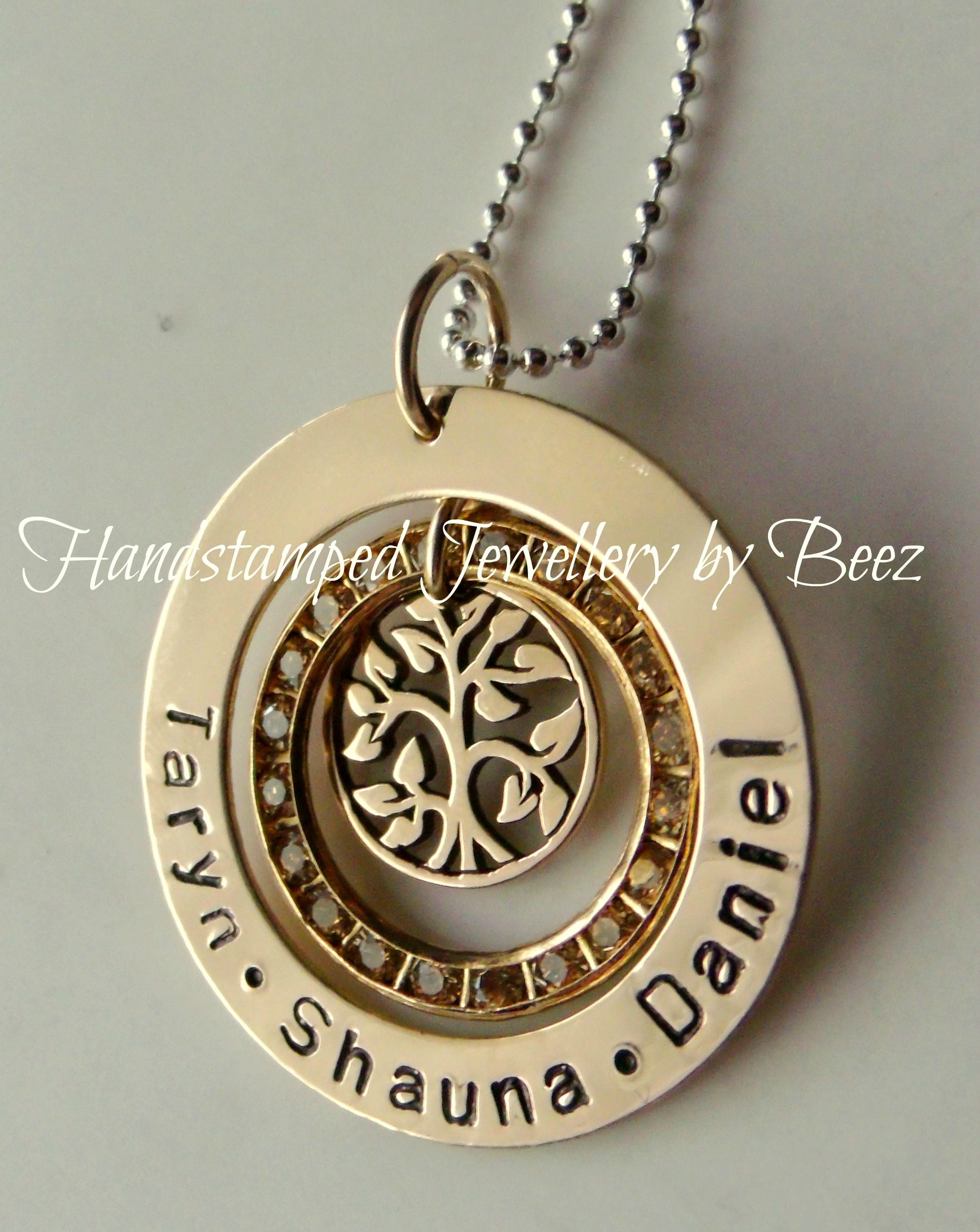 necklace family tree peggy custom pendant west product hand stamped
